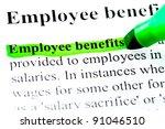 employee benefits definition... | Shutterstock . vector #91046510