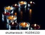 still life series  burning tea... | Shutterstock . vector #91054133
