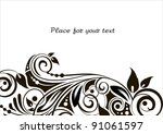 floral background with...   Shutterstock .eps vector #91061597