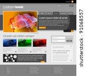 gray website template 960 grid.   Shutterstock .eps vector #91068557