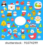 christmas new year collection | Shutterstock .eps vector #91074299