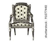 Armchair 19th Century Style  ...