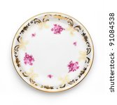 Antique Plate On White...