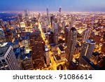 City Of Chicago. Aerial View ...