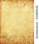 Stock photo old grunge paper background with vintage victorian style 91089632