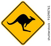 kangaroo sign | Shutterstock .eps vector #91098761
