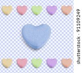 Candy Heart Background For New...