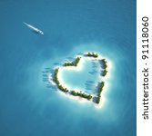 Yacht Heading To Heart Shaped...