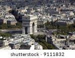 arc de triumph from the tour... | Shutterstock . vector #9111832