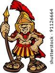 cartoon graphic of a greek...   Shutterstock .eps vector #91126664