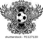 Soccer Ball With Ornate Wing...