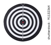 dartboard isolated on white... | Shutterstock . vector #91132364