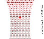 white hearts stylish background ... | Shutterstock . vector #91132367