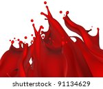 dripping blood | Shutterstock . vector #91134629
