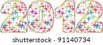 year 2012   Shutterstock .eps vector #91140734
