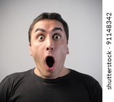 Man With Astonished Expression