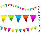 bunting flags. vector. | Shutterstock .eps vector #91150361
