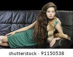 sophisticated elegant woman... | Shutterstock . vector #91150538