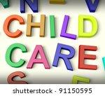 child care written in... | Shutterstock . vector #91150595