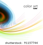 grunge style colored lines... | Shutterstock .eps vector #91157744