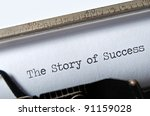 Small photo of The Story of Success