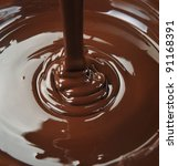 lots of chocolate falling from... | Shutterstock . vector #91168391