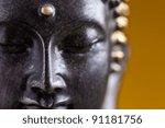 Buddha Statue  Against Golden...