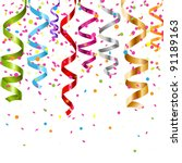 multicolor curling stream ... | Shutterstock .eps vector #91189163