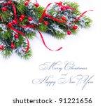 art christmas decoration fir... | Shutterstock . vector #91221656