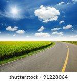 High Way Yellow Grass Green...