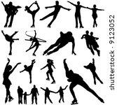 ice skate vector | Shutterstock .eps vector #9123052