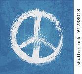 illustration of  peace sign   Shutterstock .eps vector #91238018