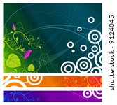 colorful abstract floral... | Shutterstock .eps vector #9124045