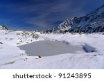 Frozen Lake In High Tatra...