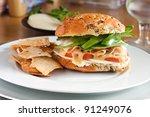 Big Turkey Sandwich With...