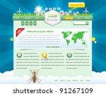 eco website design vector... | Shutterstock .eps vector #91267109