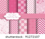 set flower vector paper for... | Shutterstock .eps vector #91272107