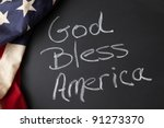 God Bless America Sign On A...