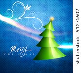 vector christmas tree artistic... | Shutterstock .eps vector #91275602