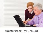 portrait of a cute aged workers ... | Shutterstock . vector #91278353