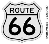 route 66 sign | Shutterstock .eps vector #91283987