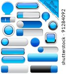 blank blue web buttons for... | Shutterstock .eps vector #91284092