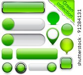 blank green web buttons for...