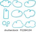vector illustration of blue... | Shutterstock .eps vector #91284134