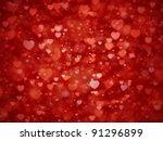shiny hearts bokeh light... | Shutterstock . vector #91296899