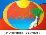summer beach background | Shutterstock .eps vector #91298057