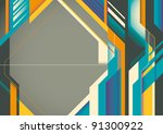 futuristic abstract poster.... | Shutterstock .eps vector #91300922