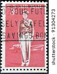 Small photo of USA - CIRCA 1963: A stamp printed in USA shows Amelia Earhart, circa 1963 .