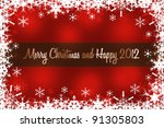 merry christmas and happy new... | Shutterstock . vector #91305803