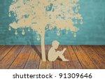 Paper Cut Of Children Read A...